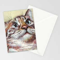Cat Watercolor Stationery Cards