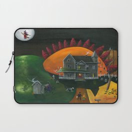 Hilly Haunted House Laptop Sleeve