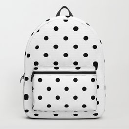 Classic Large Black Polkadot on White Backpack