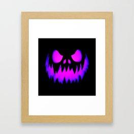Purple Halloween Pumpkin Framed Art Print
