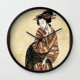 Geisha series #1 Wall Clock