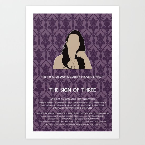 The Sign of Three - Janine Art Print