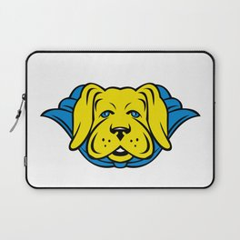 Super Yellow Lab Dog Wearing Blue Cape Laptop Sleeve
