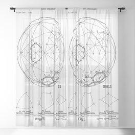 Buckminster Fuller 1961 Geodesic Structures Patent Sheer Curtain