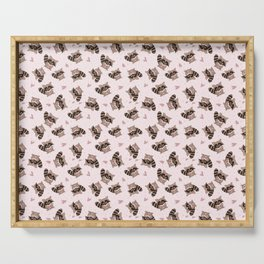 Pink Raccoon Valentine's  Serving Tray