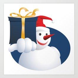 Giving Snowman... Art Print