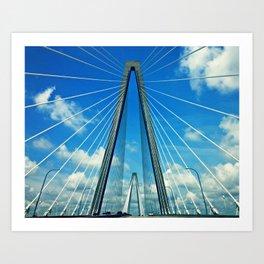 Cooper River Bridge Renewed Art Print