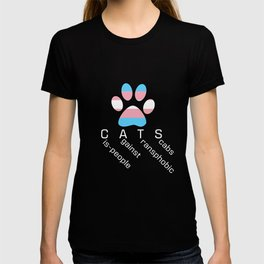 Cis-people Against Transphobia (CATS v2) T-shirt