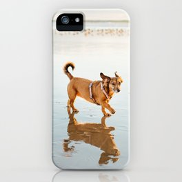 One dog and the sea iPhone Case