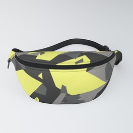 Black\Grey\Yellow Geometric Camo Fanny Pack