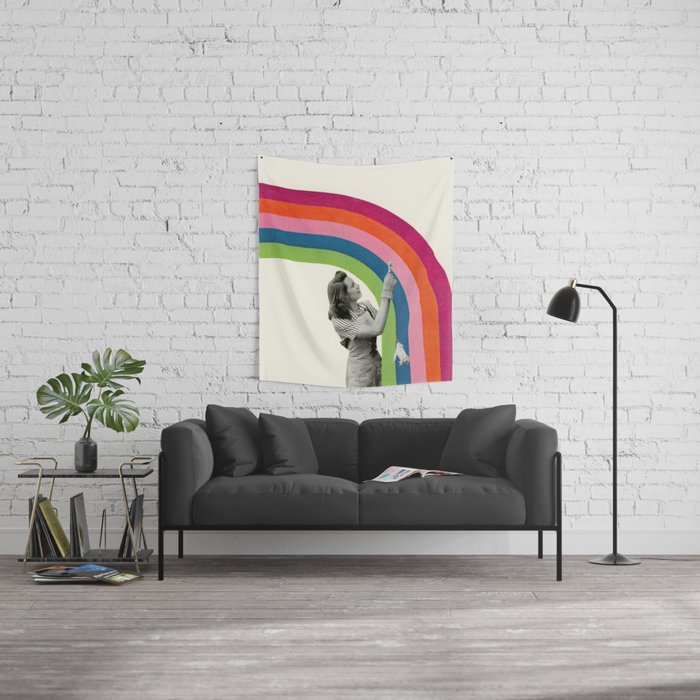 Paint a Rainbow Wall Tapestry