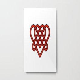 Celtic He Loves Me He Loves Me Knot Metal Print