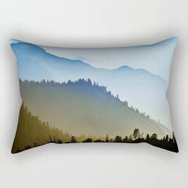 Himalya Fog |||I||| Rectangular Pillow
