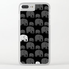 Elephant Black Clear iPhone Case