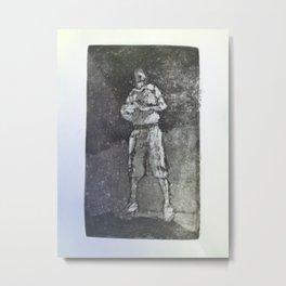 Self-portrait - basketball Metal Print
