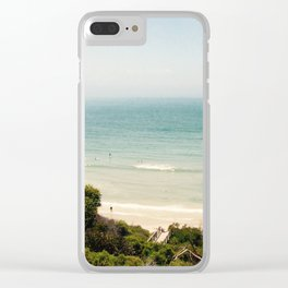 Vintage Beach Clear iPhone Case