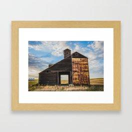Grain Elevator and Koda Framed Art Print