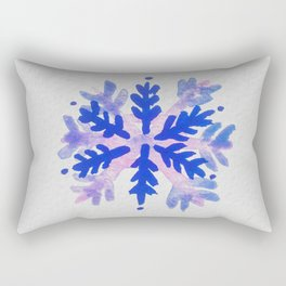 WATERCOLOR SNOWFLAKE 7 - blue and purple palette Rectangular Pillow