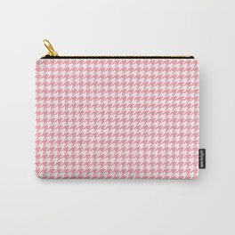 Pink Houndstooth Pattern Carry-All Pouch