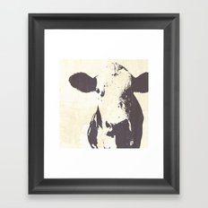 Rustic Cow Framed Art Print