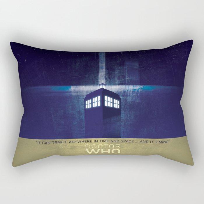 50 years of the Doctors TARDIS Rectangular Pillow