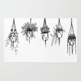 Succulent & macrame Rug