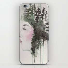 """""""Sometimes, even the snow is sad."""" iPhone Skin"""