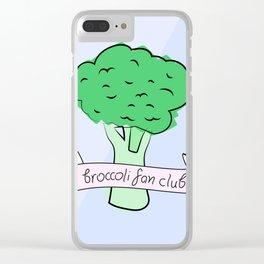 broccoli fan club Clear iPhone Case