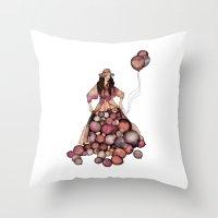 ballon Throw Pillows featuring Le Ballon // Birthday by annabours
