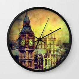 London Big Ben watercolor Wall Clock