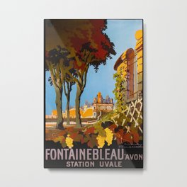Fontainebleau Vintage Travel Poster Metal Print