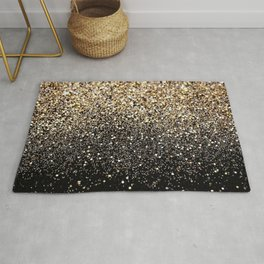 Black Royalty Glitter  Rug