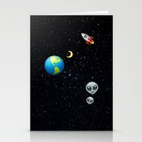 emoji Stationery Cards featuring Space Emoji by jajoão