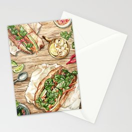 Banh Mi Lunch Spread Stationery Cards