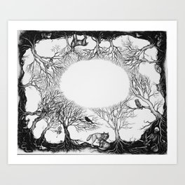 The last person in the world Art Print