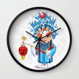 Beijing Opera Character GongNv Wall Clock