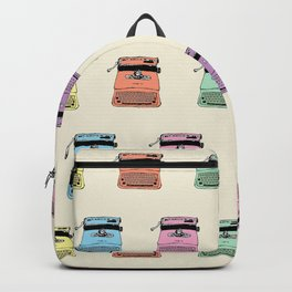 A head full of typewriters - pattern - vintage - '50s - 1950 - fifties- lettera 22 - Oiivetti facsim Backpack