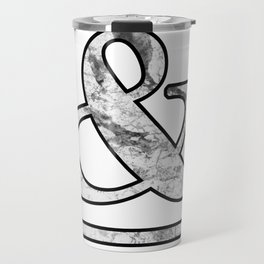 Dramatic white marble ampersand Travel Mug