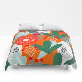 Cacti, fruits and flowers Comforters