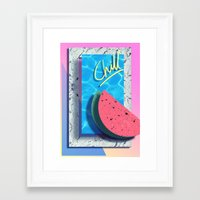 chill Framed Art Prints featuring CHILL by Ben Winboim