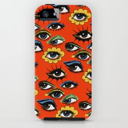60s Eye Pattern iPhone Case