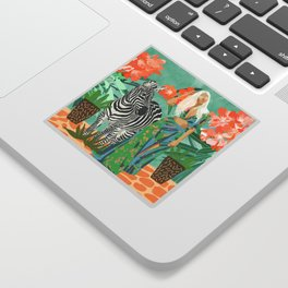 Never Change Your Stripes #illustration #painting Sticker