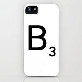 Letter B - Custom Scrabble Letter Wall Art - Scrabble B iPhone Case