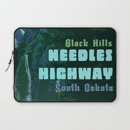 Enchanted Needles Highway Retro Travel Laptop Sleeve