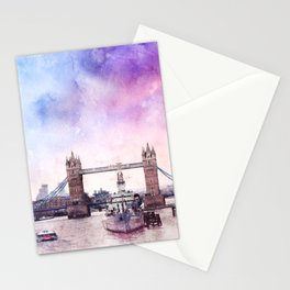 london-tower-bridge-architecture Stationery Cards