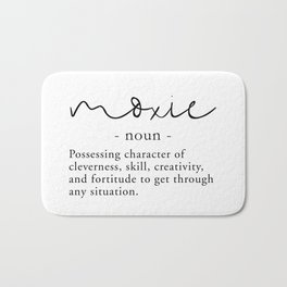 Moxie Definition - Minimalist Black Bath Mat