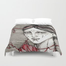 Merrill: ball of twine Duvet Cover