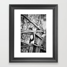 Nail Framed Art Print