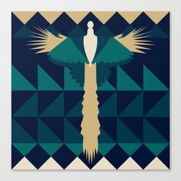 Aztec Peacock Canvas Print