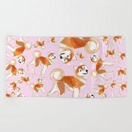 Akita Inu (Pattern) Beach Towel